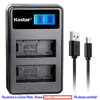 Kastar Battery LCD Dual Charger for Fujifilm NP-W126 NP-W126s Fuji X-T20 Camera