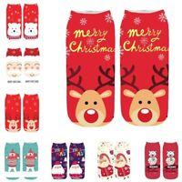Xmas Women Winter Socks Christmas Warm Ankle Sock Snowflake Deer Comfortable ER