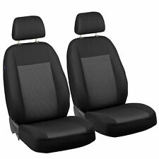 CAR SEAT COVERS FOR VOLVO V70  FRONT SEATS BLACK GREY TRIANGLES
