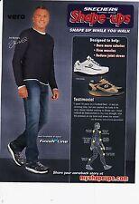 2010 SKECHERS magazine ad shape ups print clipping sneakers JOE MONTANA NFL