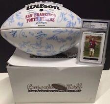 2005 San Francisco 49ers Team Signed Football & Alex Smith Rookie Auto Card PSA