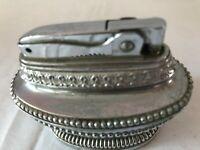 Vintage Tedmar Table Cigarette Lighter.  Made in Japan. Silver Deco