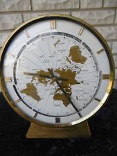 Riesige  KUNDO  Weltzeituhr Tisch Uhr world timer  table clock