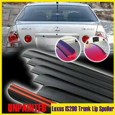 Unpainted Lexus IS200 IS300 Rear Trunk Lip Spoiler Wing 1998 2005