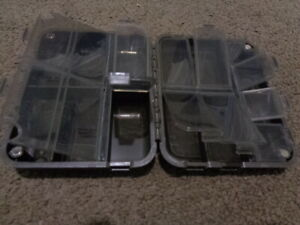 Fishing tackle storage box terminal tackle with magnets to stop it coming open S