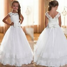 Communion Party Prom Princess Pageant Bridesmaid Wedding Flower Girl Dress AU