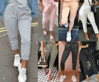 Women's Ladies High Waist Boxy Bottom Jogging Joggers Loungewear Trousers Pants