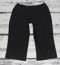LUCY ACTIVEWEAR~BLACK~STRETCH~GYM WORKOUT~WEIGHLIFTING~YOGA CROP PANTS~S
