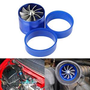 Car Air Intake Single Fan Engine Turbonator Turbine Super Charger Gas Fuel Saver