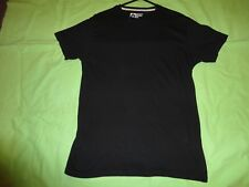 PK 2 BLACK XS REGULAR CREW NECK SSLV T SHIRT 34-36 Chest 100% COTTON NEW NO TAGS