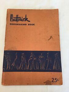 Vintage Butterick Dressmaking Book 1941 Illustrations StepxStep Paperback Nice