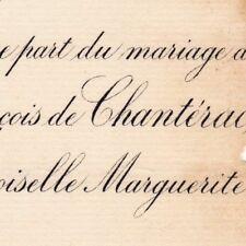 François De La Cropte De Chantérac Paris 1881 Marguerite De La Guibourgère