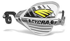 "Cycra Probend CRM Factory Handguards 1-1/8"" Bars White / Black Shields Piar NEW"