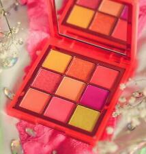 Huda Beauty Obsessions Eyeshadow Palette NEON ORANGE 9 color shades Free SHIP