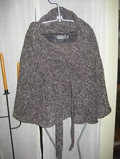 COSTA BLANCA BROWN WOOL BLEND CAPE/JACKET SIZE M