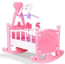 rose poupées à bascule berceau lit enfant filles Jouet avec mobile, couverture &