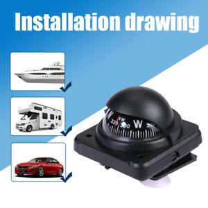 1x Adjustable Car Dashboard Mount Navigation Compass Ball For Truck Boat Marine