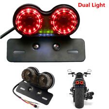 LED License Plate Brake Tail Turn Signal Twin Dual Integrated  Light For Racer