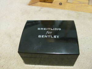 Authentic BREITLING FOR BENTLEY Bakelite Black Watch Box WITH CASE/PILLOW-READ