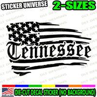 Tennessee Distressed Flag State Car Window Decal Bumper Sticker Nashville 1144