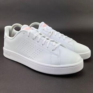 Adidas Women's Advantage Base White Glow Pink Tennis Shoes EE7510 Sizes 7 - 10 M