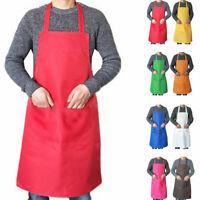 Bib Apron Dress Men Women Kitchen Restaurant Chef Classic Cooking Bib w/ Pocket