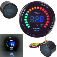 HOTSYSTEM Car Digital Blue LED Water Temperature Racing Gauge Black Universal