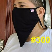 THE300 for BEARD Big and tall XXL Face mask Cover Made USA Nose Wire Respirator