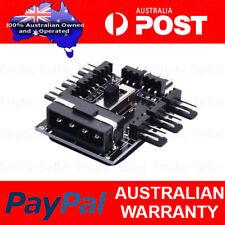 PC IDE Molex 1 To 8 Way Splitter Cooling Fan Hub 3-Pin Power Socket Adapter 12V