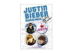 Blister 4 Badges Justin Bieber Officiels Justin Bieber official badge pack new
