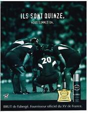 PUBLICITE ADVERTISING  2003   BRUT  ILS SONT 15  déodorant