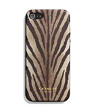 COACH IPHONE 5 Case In Madison Zebra Multi-Brown Print (67340B ) - MSRP $38 NWB