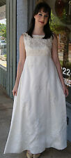Vintage 1960's New Look Beaded Wedding Gown Formal Dress - Size S