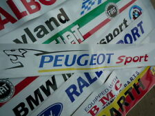 Peugeot sportrace & Rally Car screentop sunstrip calcomanía