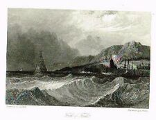 """FIRTH OF FORTH - from Sir Walter Scott's """"TOLLBOOTH"""" Engraving - 1853"""