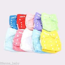 10 x Resuable Clothes Nappies + Inserts One Size fit all  - you pick the colours