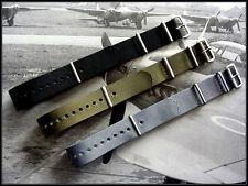 18 20 22 24 NATO G10 Premium nylon watchband 3pak MoD RAF strap Bonded IW SUISSE