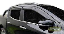 WEATHER / WIND SHIELDS 4 pc SET  Mercedes X Class 2017> DARK VC54ME0101 Airplex