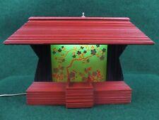 "Rare Vintage Black Light Geisha Girl Stage Diorama TV Lamp Shadow Box 17""W 12""H"