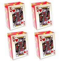 4er Set Mini Kartenspiel je 52 Karten & 4 Joker   Spielkarten Poker Skat Karten