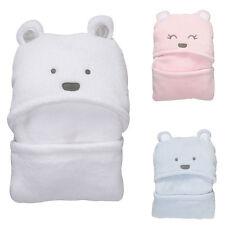 Lovely Bear Baby Hooded Bathrobe Infant Newborn Bath Towel Wrap Blanket