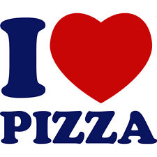 Night Blue&Red I Love Pizza Delivery Funny Car Window Fridge Vinyl Decal Sticker
