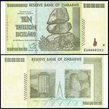 Zimbabwe 10 Trillion Dollars, 2008, P-88, UNC, Replacement ZA, 50 & 100 Trillion