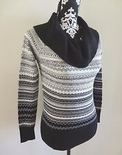 WHITE HOUSE BLACK MARKET Jacquard Cowl Neck Off Shoulder Sweater - S - $98 - NWT