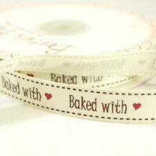Bertie's Bows Baked With Love Ribbon 3m