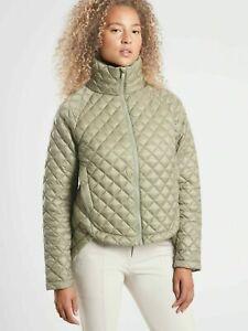 ATHLETA Whisper Featherless Jacket M MEDIUM Shadow Olive Travel Commute #599474