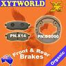 FRONT REAR Brake Pads Shoes YAMAHA TT 350 1TJ 1985 1986 1987 1988 1989