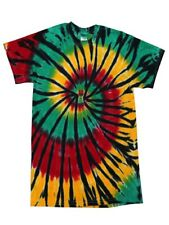 Multi-Color Rainbow New Tie Dye T-Shirts,  Kids and Adult S to 5XL, Cotton 100%