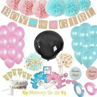 103 PCS Gender Reveal Party Supplies  with Photo Props, 36 In Reveal Ballon
