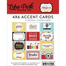 Echo Park - MAGIC AND WONDER  - 4x6 Accent Cards - Pocket Page Scrapbooking